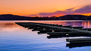 Calm Water Metal Prints - Candlewood Lake Metal Print by Bill  Wakeley