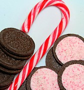 Cookies And Milk Prints - Candy cane -  Cookies - Sweets Print by Barbara Griffin