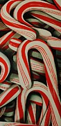 Candy Painting Originals - Candy Cane by Andrea Nally