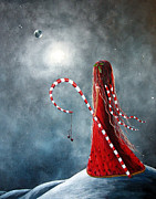 Dreamscape Painting Metal Prints - Candy Cane Fairy by Shawna Erback Metal Print by Shawna Erback