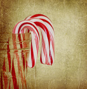 Edible Framed Prints - Candy Canes Framed Print by Kim Hojnacki