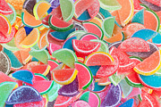 Fruit Digital Art Posters - Candy Fruit Poster by Alixandra Mullins