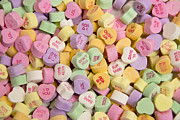 Candy Heart Message 2 Print by Regina  Williams