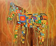 Still Life Photographs Painting Posters - Candy Horse on Stick Poster by Mirek Bialy