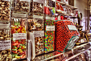 Candy Digital Art Originals - Candy Jars At Peanut Shop by Michael Thomas