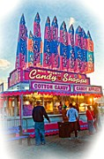 Candy Digital Art - Candy Shoppe vignette oil by Steve Harrington