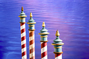 Maritime And Nautical - Candy-Striped Paline of Venice by Heiko Koehrer-Wagner