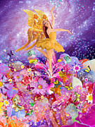 Dancing Girl Posters - Candy Sugarplum Fairy Poster by Alixandra Mullins