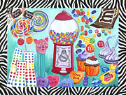 Candy Painting Originals - Candy Window by Carla Bank