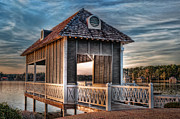 Lake House Prints - Canebrake Boat House Print by Brenda Bryant
