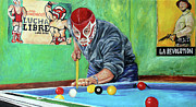 Wrestling Painting Originals - Canek  by Nancy Almazan