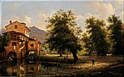 The Houses Framed Prints - Canella Giuseppe, A Mill, 1844, 19th Framed Print by Everett