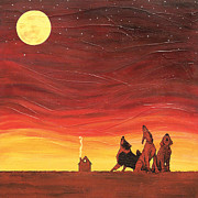 Howling Paintings - Canine Tabernacle Choir by Bob and Marie Bretz