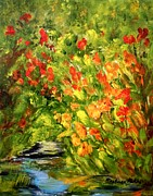 Canna Paintings - Canna Lilies by Barbara Pirkle