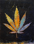 Trippy Painting Metal Prints - Cannabis Metal Print by Michael Creese