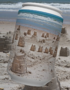Sandcastles Prints - Canned Castles Print by Betsy A Cutler East Coast Barrier Islands