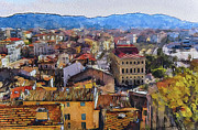 Old Town Digital Art Prints - Cannes 2 Print by Yury Malkov
