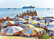 Old Town Digital Art Framed Prints - Cannes Beach 2 Framed Print by Yury Malkov