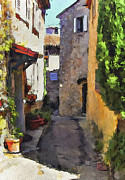 Old Town Digital Art Prints - Cannes Mougins 2 Print by Yury Malkov