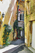Old Town Digital Art Framed Prints - Cannes Mougins 3 Framed Print by Yury Malkov