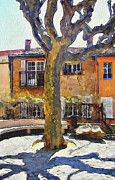 Old Town Digital Art Framed Prints - Cannes Mougins 4 Framed Print by Yury Malkov