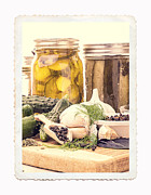 Preserved Framed Prints - Canning Kitchen Art Framed Print by Edward Fielding