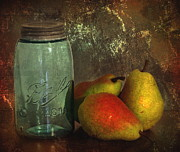 Canning Jar Framed Prints - Canning Season Framed Print by Angie Vogel