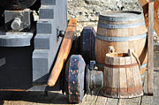 Florida Landscape Photography Prints - Cannon and Barrel of Powder Print by Bruce Gourley