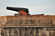 Florida Wildlife Photography Framed Prints - Cannon Atop Fort Pickens in Florida Framed Print by Bruce Gourley