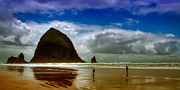 Ocean Scenes Posters - Cannon Beach at Dusk II Poster by David Patterson