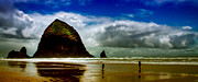 Sandy Beaches Prints - Cannon Beach at Dusk III Print by David Patterson