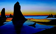 Cannon Beach At Sunset 15 Print by James Dunbar