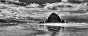Sandy Beaches Framed Prints - Cannon Beach on the Oregon Coast Framed Print by David Patterson
