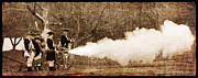 Re-enactor Prints - Cannon Fire Print by Mark Miller