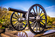 Artillery Photo Metal Prints - Cannon in New Orleans Washington Artillery Park Metal Print by Paul Velgos