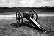 Sesquicentennial Digital Art Prints - Cannon Overlooking Battlefield - Perryville KY Print by Thia Stover