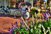 Mobile Digital Art Originals - Cannondale Against Flower Stand by Michael Thomas