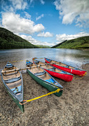 Llyn Prints - Canoe Break Print by Adrian Evans