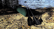 Canoe Metal Prints - Canoe Metal Print by Cheryl Young