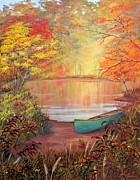 Autumn Colors Originals - Canoe Landing  by John Samsen