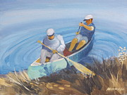Canoe Painting Posters - Canoe Launch Poster by Robert Rohrich