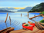 Canoes Originals - Canoe on Central Lake by Elissa Anthony