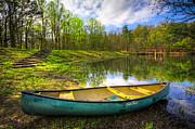 Debra and Dave Vanderlaan - Canoeing at the Lake