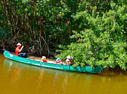 Canoeing Digital Art - Canoeing in Buttonwood Canal in Everglades National Park-FL by Ruth Hager
