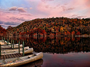 Canoes Originals - Canoes In Fall Color by Carolyn Fletcher