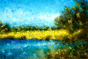 Michelle Wrighton - Canola Fields Impressionist Landscape Painting