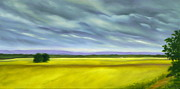 Farm Fields Painting Originals - Canola by Jo Appleby