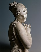 Girl Looking Down Posters - Canova Antonio, Dancer With A Finger Poster by Everett