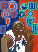 Michael Jordan Painting Originals - Cant Stop Me by Mj  Museum
