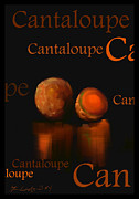 Cantaloupe Prints - Cantaloupe - Fruit and Veggie Series - #4 Print by Steven Lebron Langston